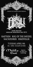 Absu , Haethen , Bog Of The Infidel, and more.