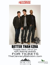 Better Than Ezra to benefit the Montessori School of Franklin with special guests, Emerson Hart ( of Tonic ) and David Cook