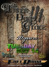 Three Days Grace with 10 Years