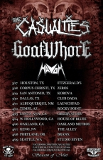 The Casualties with Dr. Know / Goatwho*e / Havok / The Schitz
