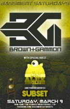 BASSMENT SATURDAYS featuring Brown + Gammon / Alex English