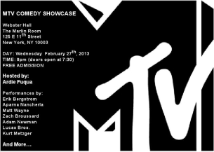 MTV Free Comedy Showcase
