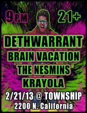 Deth Warrant / Brain Vacation / The Nesmins / Krayola