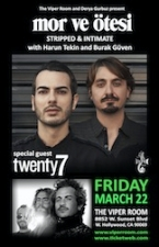 mor ve ötesi STRIPPED & INTIMATE with Harun Tekin and Burak Güven with Twenty7 and The Lonely Drunks Club Band