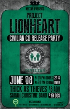 PROJECT LIONHEART CD Release with Thick As Thieves and Sarah Christine Band