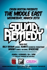 Sound Remedy with Billy Brown, 4LMNTZ, Mobsky, Spacecase