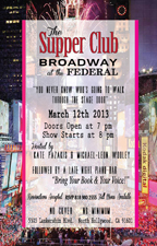 The Supper Club: Broadway at The Federal