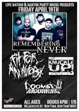 Remembering Never with Fit for an Autopsy / Knuckle Up! and Doomsday Mourning
