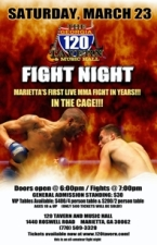 LIVE MMA Cage Fight Night @ The 120 Tavern & Music Hall!
