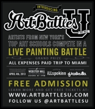 ArtBattles U New York Battle plus Bodypaint.me