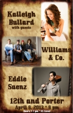 LOUNGE:, Kaileigh Bullard with Eddie Saenz and Williams & Co.