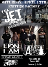 The Jet Stole Home featuring Lion I Am / Brave Coast / Saving Alleya / A Place Before Pines