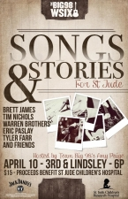 Songs & Stories For St. Jude featuring The Warren Brothers, Brett James, Tim Nichols, Tyler Farr, Rhett Akins, Eric Paslay, Steve Bogard , and Chris Janson