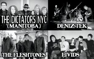 The Dictators NYC (Manitoba), Deniz Tek (Radio Birdman) & The Fleshtones Plus Livids