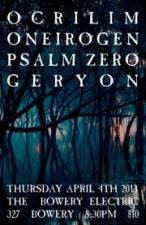 ONEIROGEN (KIASMA RECORD RELEASE) featuring OCRILIM / PSALM ZERO / GERYON
