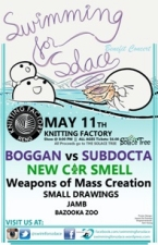Swimming for Solace featuring Subdocta vs Boggan / New Car Smell / Small Drawings / Weapons of Mass Creation / Jamb / Bazooka Zoo