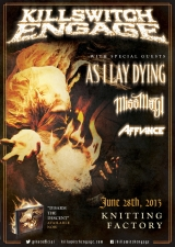 Killswitch Engage: Disarm the Descent Tour featuring Miss May I / Darkest Hour / The Word Alive / Affianc