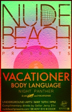 Vacationer with Body Language & Night Panther plus special DJ sets by Le Bump & Vacationer