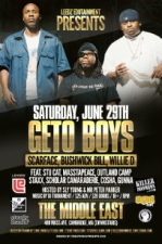 The Geto Boys (Scarface, Bushwick Bill, Willie D) featuring Stu Cat and more.
