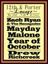 LOUNGE:, Year of October with Mayday Malone, Zach Ryan and the Renegades & Drew Richcreek