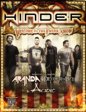 Hinder and special guest Aranda / Devour The Day / Acidic