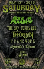 Locals Live featuring Rock In Paradise / Top Soil / Thirion / Framework / Apollos Creed