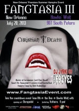 Fangtasia III featuring Christian Death, DJ Jyrki 69, and special guests