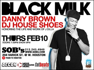BLACK MILK w/ Live Band, Special Guests DJ House Shoes & More