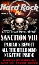 Sanction VIII with Pariah's Revolt, All The Hellbound & Negative Inside