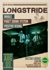 LONGSTRIDE with Inhale, Puget Soundsystem, Positive Rising