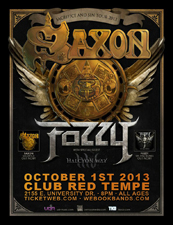 Saxon with Fozzy