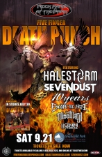 Rock Hard at The Park: Five Finger Death Punch with Halestorm / Sevendust / 10 Years / Escape the Fate / Miss May I / Gemini Syndrome