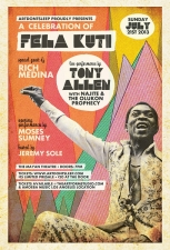 A Celebration of Fela Kuti, Tony Allen w/ Najite and The Olukon Phophecy, Rich Medina, Moses Sumney & Jeremy Sole