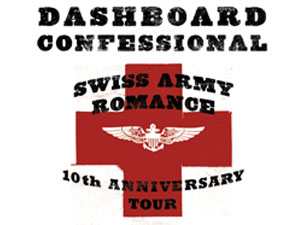 Dashboard Confessional : Swiss Army Romance 10th Anniv Tour with Cory Branan & John Lefler