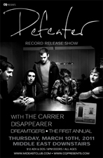 Defeater Record Release with The Carrier, Disappearer , and more