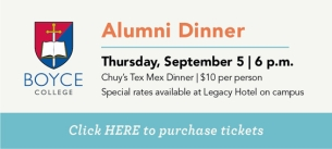 Boyce Alumni Dinner Event