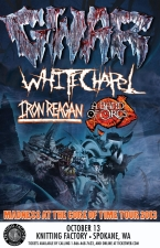 GWAR featuring Whitechapel / Iron Reagan / A Band Of Orcs