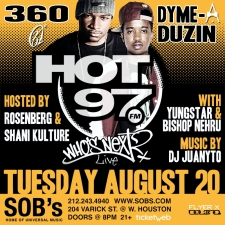 HOT97 WHO'S NEXT? featuring 360 and Dyme A Duzin