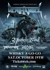 Death Angel, CD Release Show (Every Ticket Gets Free CD) / 3 Inches of Blood, Battlecross / Revocation / Diamond Plate