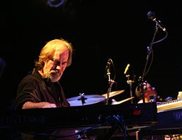 Bill Payne of Little Feat with Gabe Ford (Little Feat) on drums