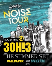 Journeys Noise Tour Featuring 3OH!3 featuring The Summer Set / Wallpaper / New Beat Fund