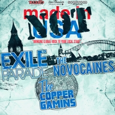 Not Made in the USA featuring Exile Parade / The Novocaines / The Copper Gamins