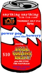 Anything Anything with Rich Russo presents POWER POP goes the BOWERY starring The Paul Collins Beat with Big Eyes and The Naturals