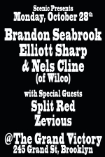 Brandon Seabrook/Elliott Sharp/Nels Cline (of Wilco) with Split Red / Zevious