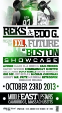Reks & Edo.G present XXL's Future of Boston featuring Avenue, Black El and Durkin, and more