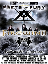 Firewind featuring Arsis / White Wizzard / Nightrage