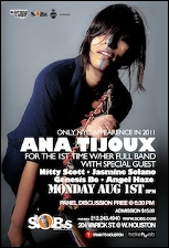Ana Tijoux w/ Her Band featuring Nitty Scott, Jasmine Solano, Genesis Be & Angel Haze