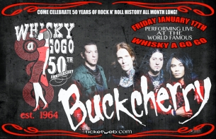 Whisky a go go's 50th anniversary celebration with Buckcherry