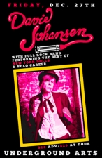 David Johansen with full rock band performing the best of New York Dolls & solo career with an all vinyl DJ set by Guitar Army Philly host Eddie Gieda