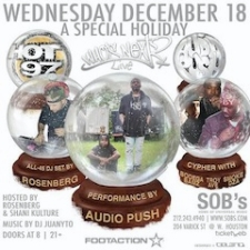 HOT 97 WHO'S NEXT HOLIDAY PARTY featuring Audio Push & a live cipher with Bodega Bamz, Smoke DZA, Troy Ave and more
